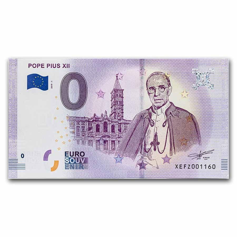 2019 Vatican City Pope Pius XII 0 Euro Souvenir Banknote Unc