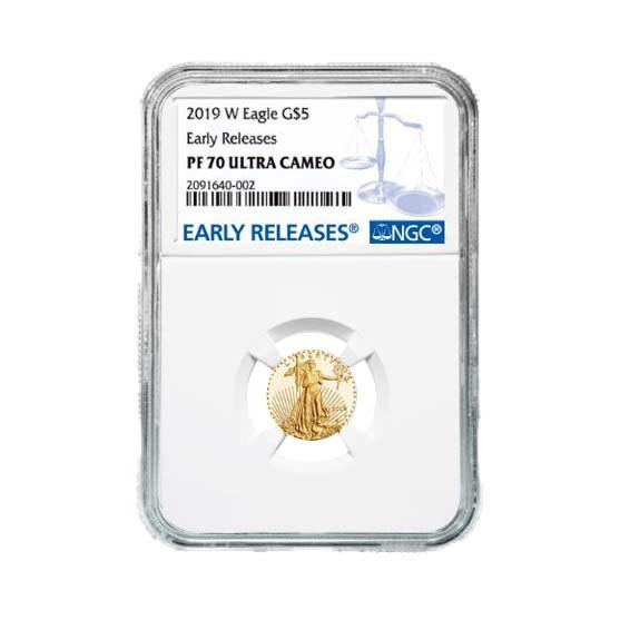 2019-W 1/10 oz Proof Gold American Eagle PF-70 NGC (ER)