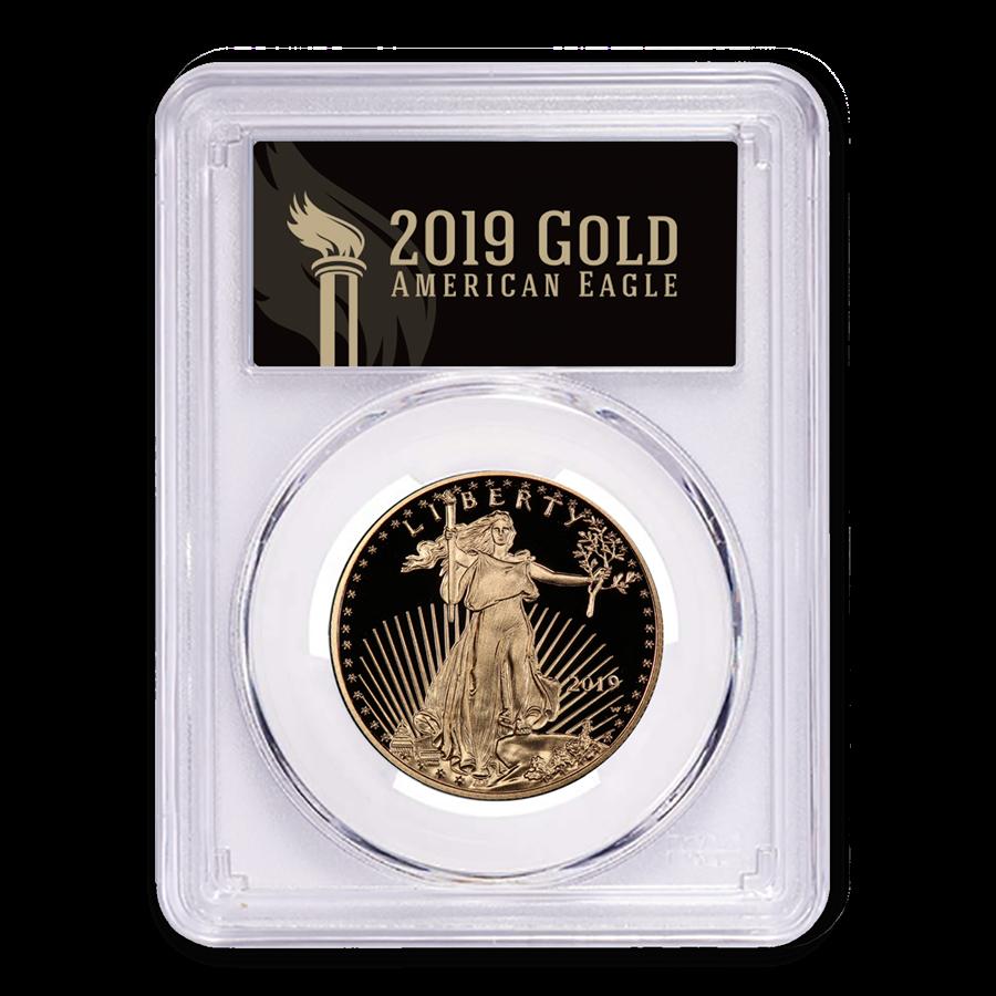 2019-W 1/2 oz American Gold Eagle PR-70 PCGS (FS, Black Label)