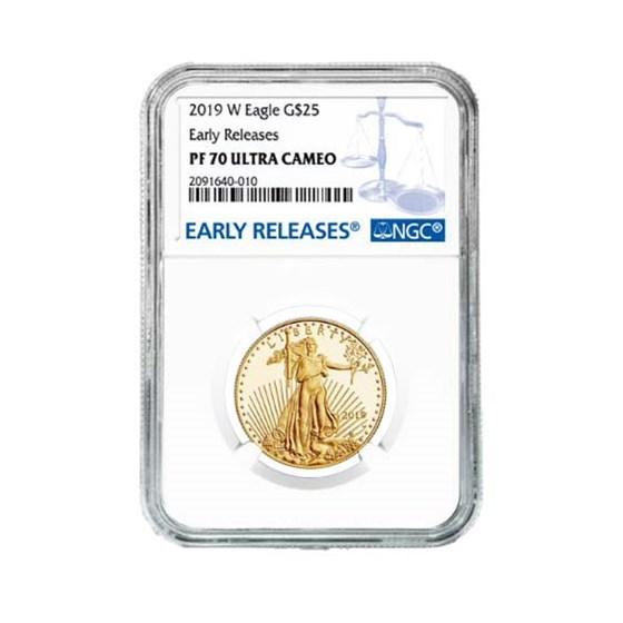 2019-W 1/2 oz Proof Gold American Eagle PF-70 NGC (ER)