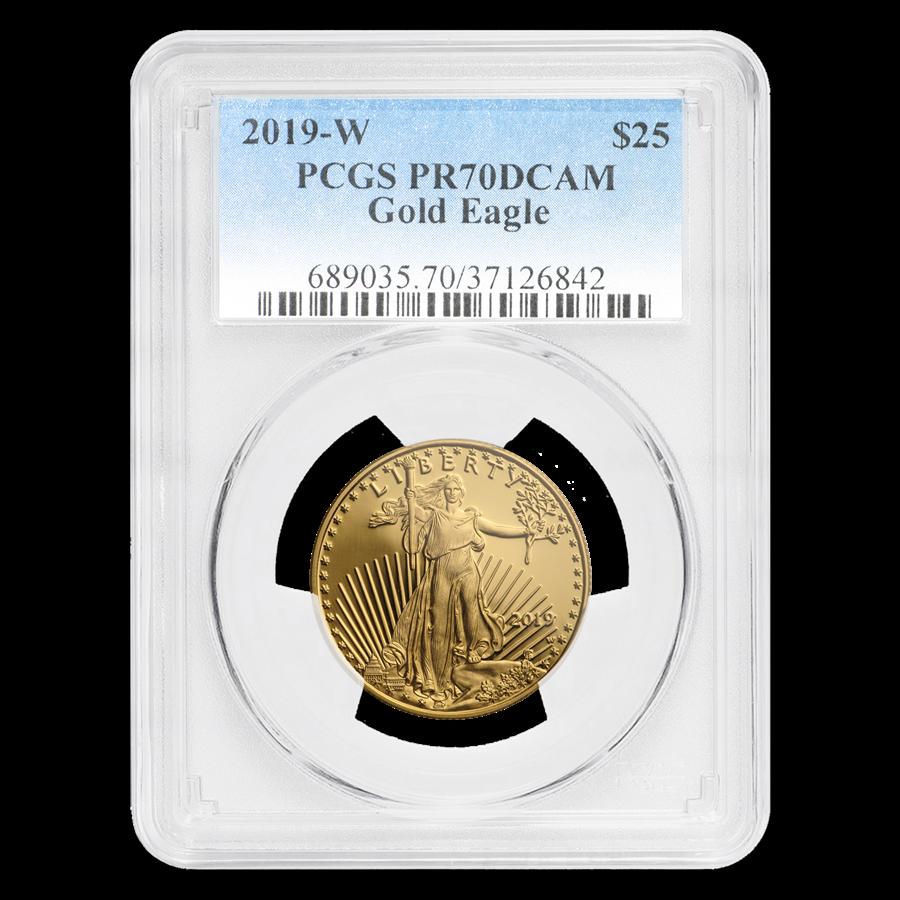 2019-W 1/2 oz Proof Gold American Eagle PR-70 PCGS
