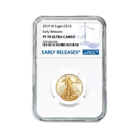 2019-W 1/4 oz Proof Gold American Eagle PF-70 NGC (ER)