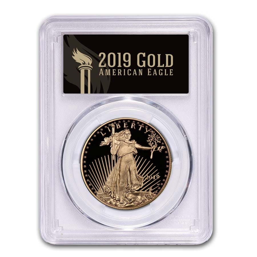 2019-W 1 oz American Gold Eagle PR-70 PCGS (FS, Black Label)