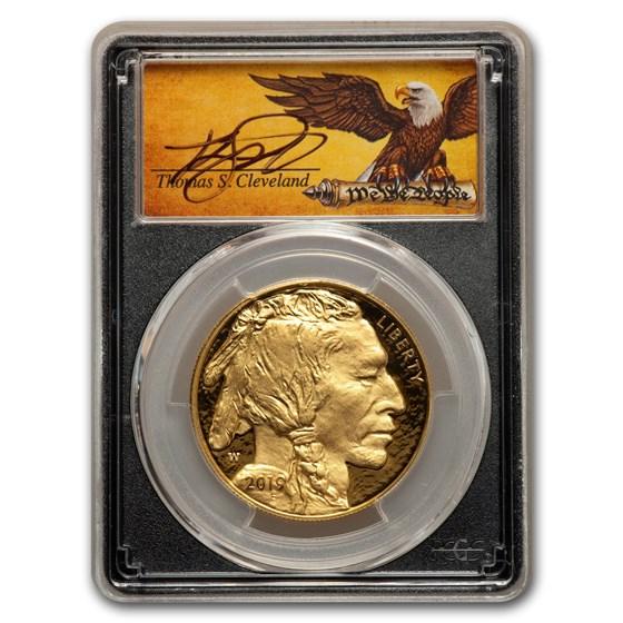 2019-W 1 oz Proof Gold Buffalo PR-70 PCGS (FDI, Cleveland Label)