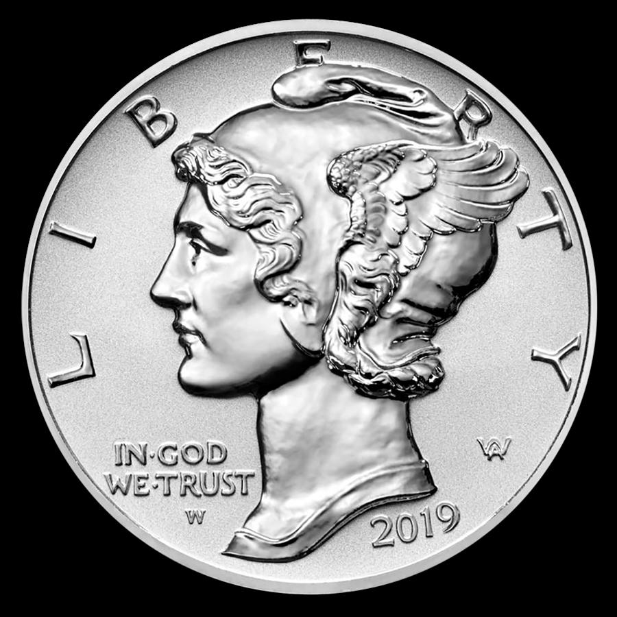 2019-W 1 oz Reverse Proof Palladium American Eagle (w/Box & COA)