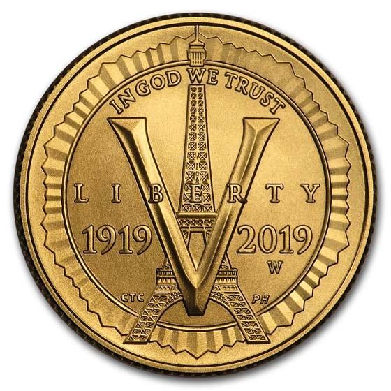 2019-W Gold $5 American Legion BU (w/Box & COA)