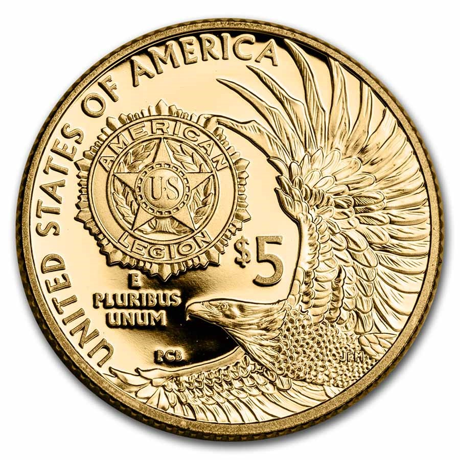 2019-W Gold $5 American Legion Proof (Capsule Only)