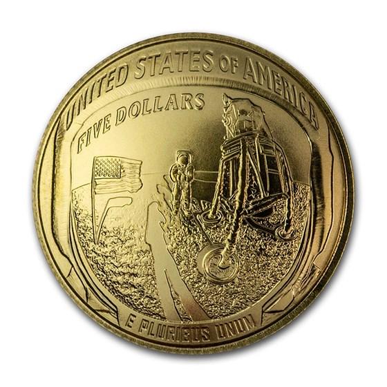 2019-W Gold $5 Apollo 11 50th Anniversary BU (Capsule Only)