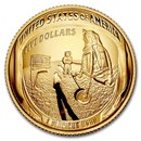 2019-W Gold $5 Apollo 11 50th Anniversary Proof (Box & COA)