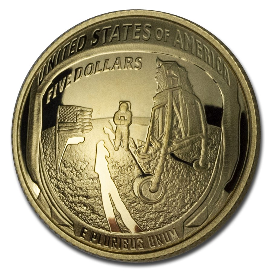 2019-W Gold $5 Apollo 11 50th Anniversary Proof (Capsule Only)