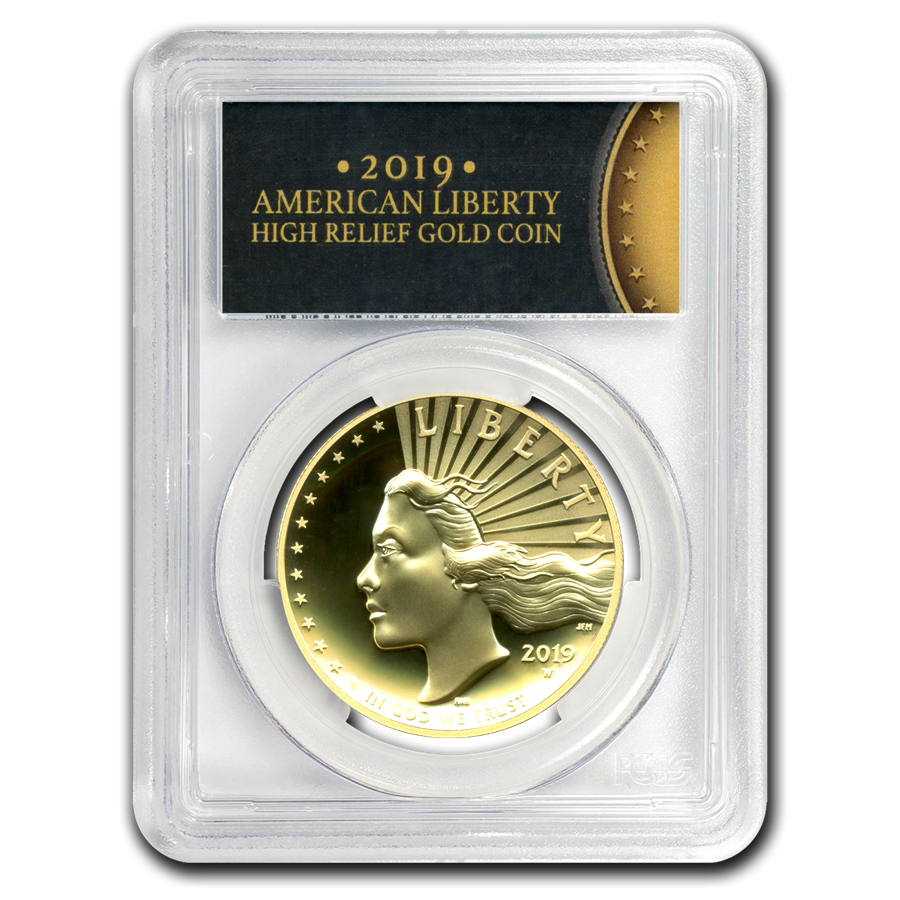 2019-W High Relief American Liberty Gold SP-70 DMPL PCGS (FS)