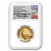 2019-W High Relief American Liberty Gold SP-70 NGC