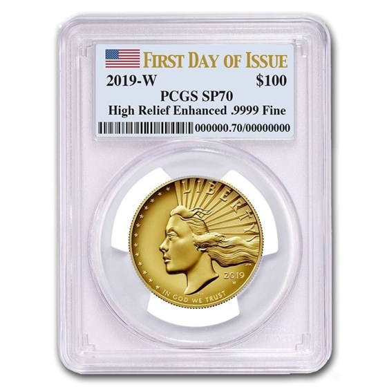 2019-W High Relief American Liberty Gold SP-70 PCGS (First Day)
