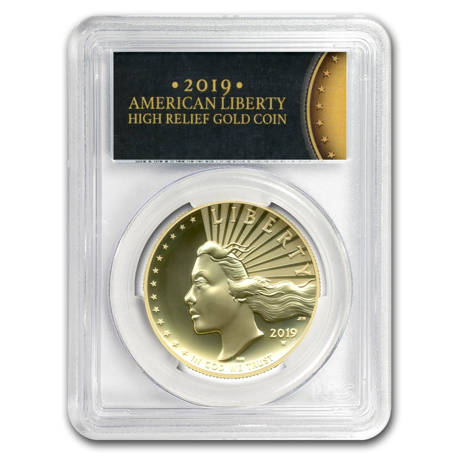2019-W High Relief American Liberty Gold SP-70 PL PCGS (FS)