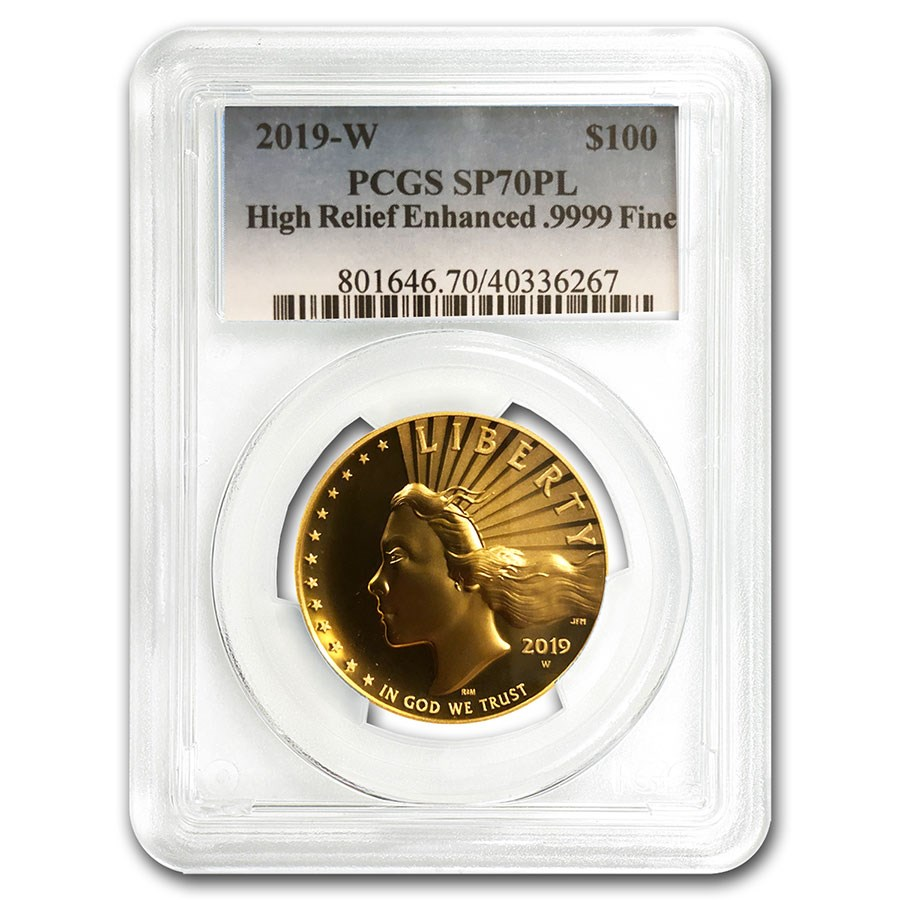 2019-W High Relief American Liberty Gold SP-70 PL PCGS