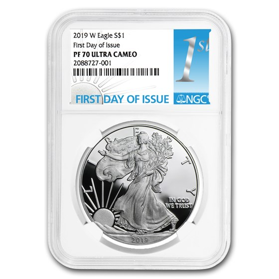2019-W Silver American Eagle PF-70 NGC (First Day of Issue)