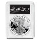 2019-W Silver American Eagle PR-70 PCGS (First Day, Black Label)