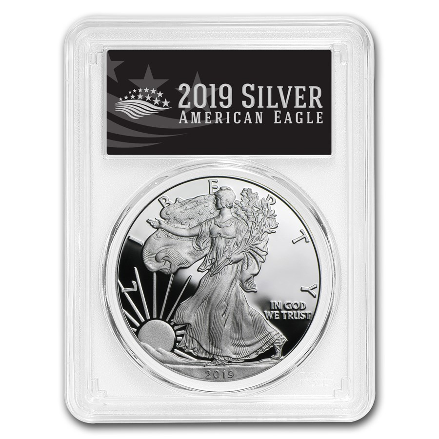 2019-W Silver American Eagle PR-70 PCGS (First Day, Black Label)