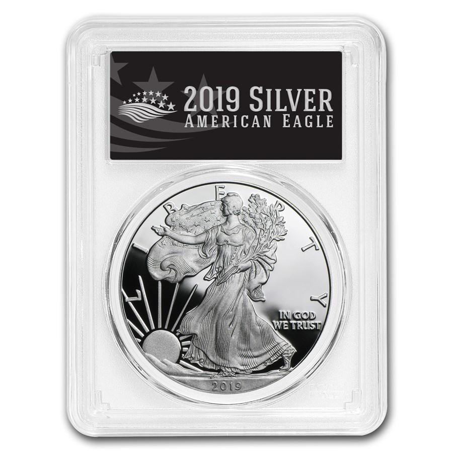 2019-W Silver American Eagle PR-70 PCGS (FS, Black Label)