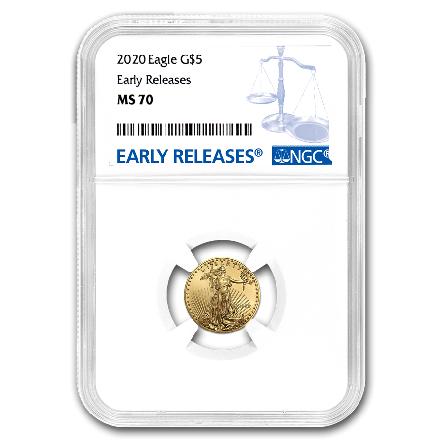 2020 1/10 oz American Gold Eagle MS-70 NGC (Early Releases)