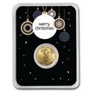 2020 1/10 oz Gold American Eagle - Merry Christmas (Elegant)