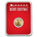 2020 1/10 oz Gold American Eagle - Merry Christmas (Red Card)