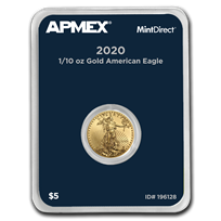 2020 1/10 oz Gold American Eagle (MintDirect® Single)