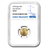 2020 1/10 oz Gold American Eagle MS-69 NGC (Early Releases)