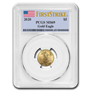 2020 1/10 oz Gold American Eagle MS-69 PCGS (FirstStrike®)