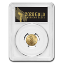 2020 1/10 oz Gold Eagle MS-70 PCGS (FirstStrike®, Black Label)