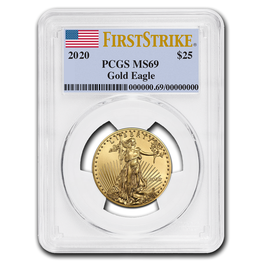 2020 1/2 oz American Gold Eagle MS-69 PCGS (FirstStrike®)