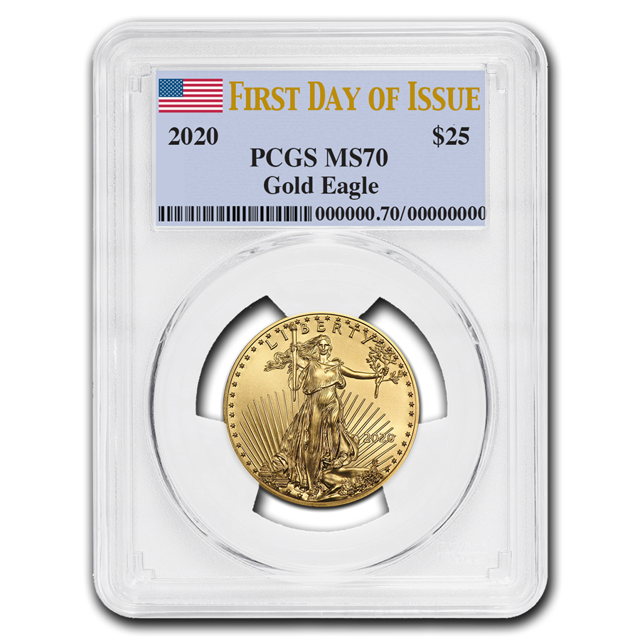 2020 1/2 oz American Gold Eagle MS-70 PCGS (First Day of Issue)