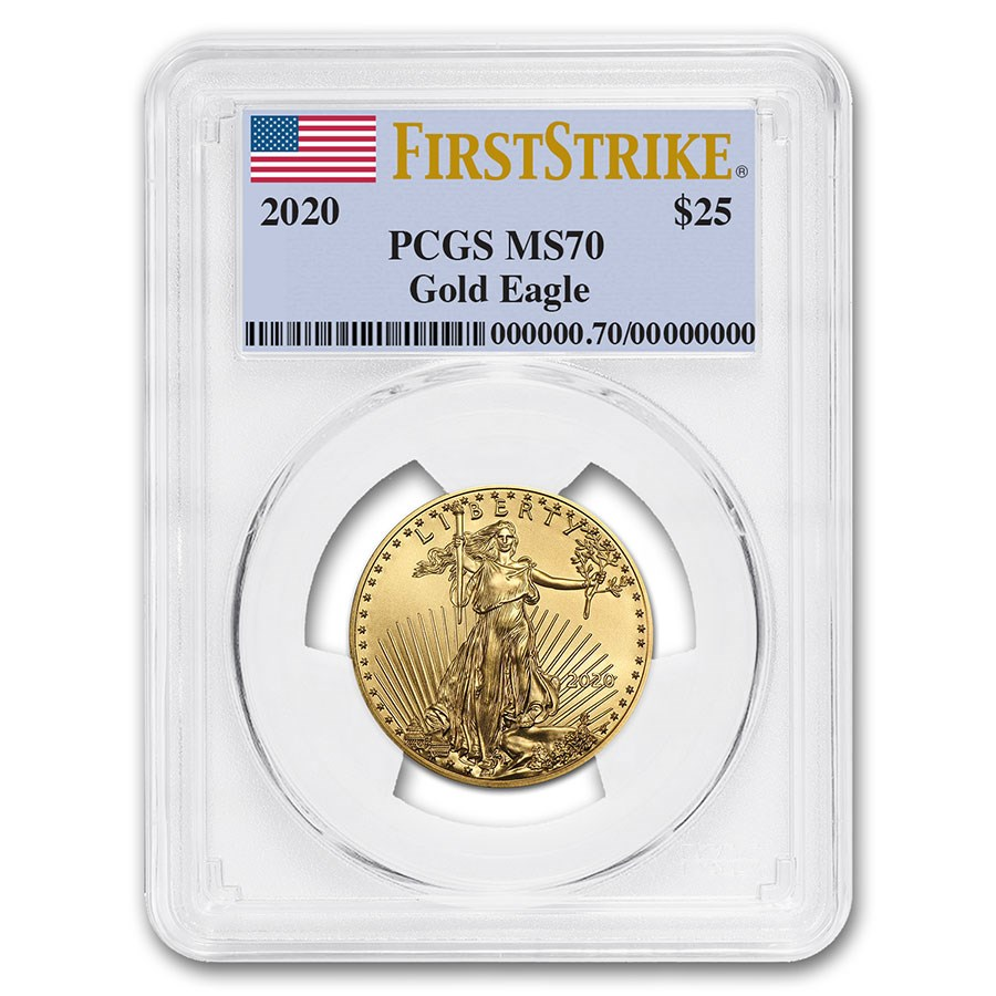 2020 1/2 oz American Gold Eagle MS-70 PCGS (FirstStrike®)
