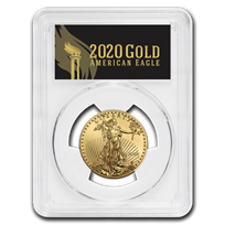 2020 1/2 oz Gold Eagle MS-70 PCGS (FirstStrike®, Black Label)