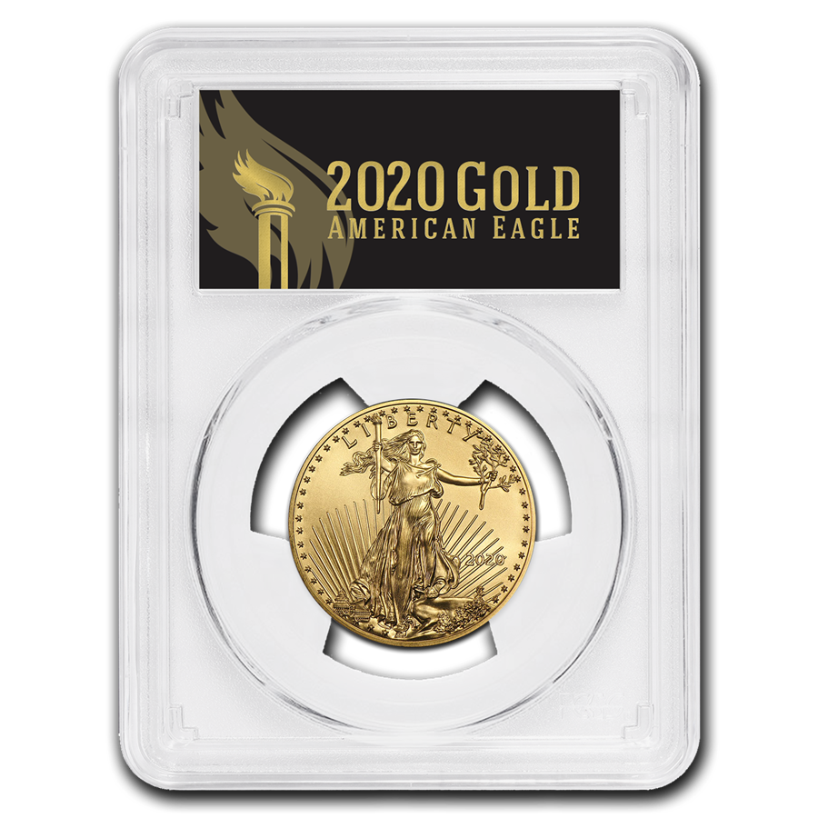 2020 1/2 oz Gold Eagle MS-70 PCGS (FirstStrike®, Black Label)