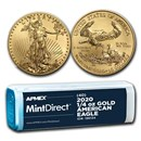 2020 1/4 oz American Gold Eagle (40-Coin MintDirect® Tube)