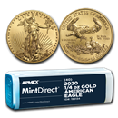 2020 1/4 oz Gold American Eagle (40-Coin MintDirect® Tube)