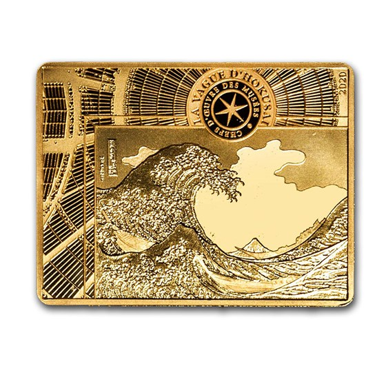 2020 1/4 oz Proof Gold €50 Masterpieces of Museums (The Wave)