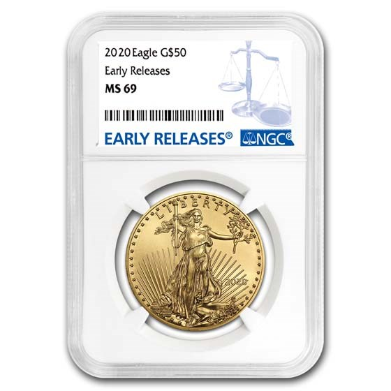 2020 1 oz American Gold Eagle MS-69 NGC (Early Releases)