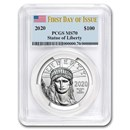 2020 1 oz American Platinum Eagle MS-70 PCGS (First Day of Issue)