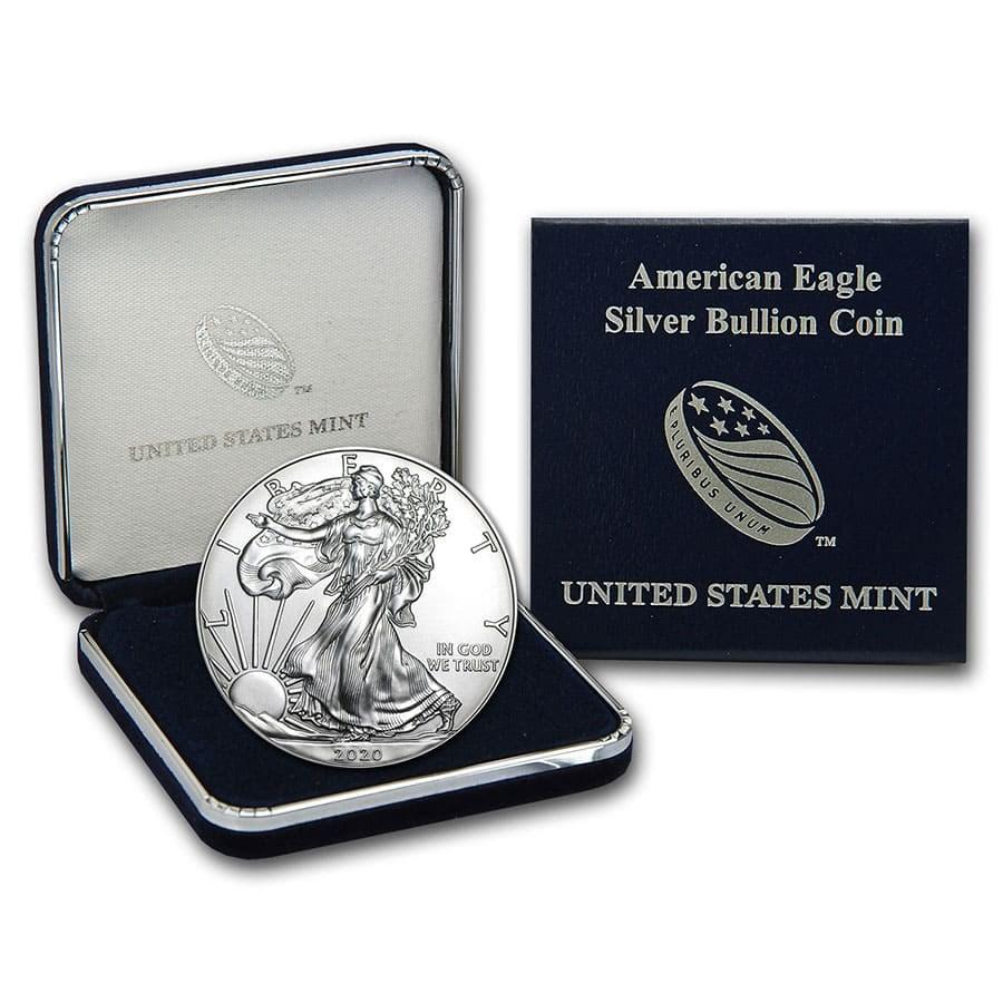 2020 1 oz American Silver Eagle BU (w/U.S. Mint Box)