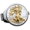 2020 1 oz Gilded Silver American Eagle Money Clip
