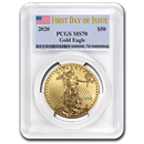 2020 1 oz Gold American Eagle MS-70 PCGS (First Day of Issue)