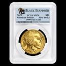 2020 1 oz Gold Buffalo MS-70 PCGS (FS, Black Diamond)