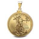 2020 1 oz Gold Eagle Pendant (Diamond-ScrewTop Bezel)