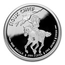 2020 1 oz Silver $1 Sioux Indian War Chief BU