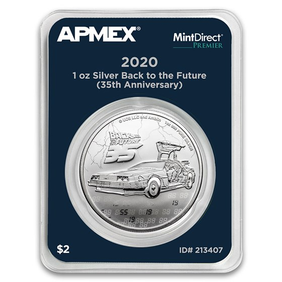 2020 1 oz Silver $2 Back to the Future 35 (MD® Premier Single)
