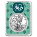 2020 1 oz Silver American Eagle - Father's Day Argyle
