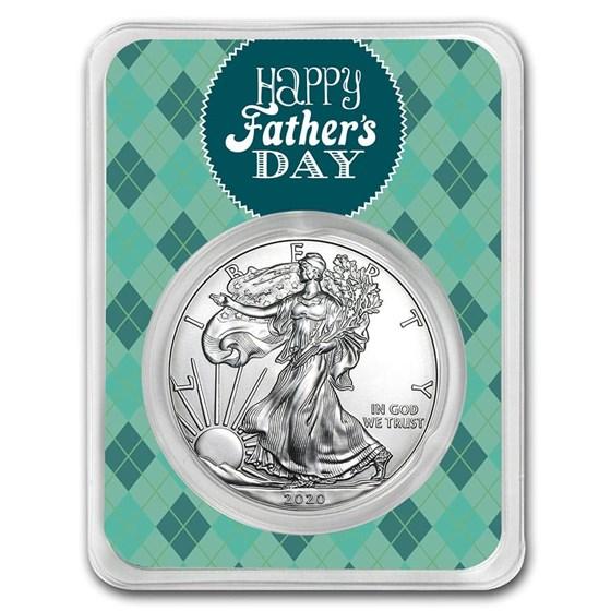 2020 1 oz Silver American Eagle - Father's Day Argyle