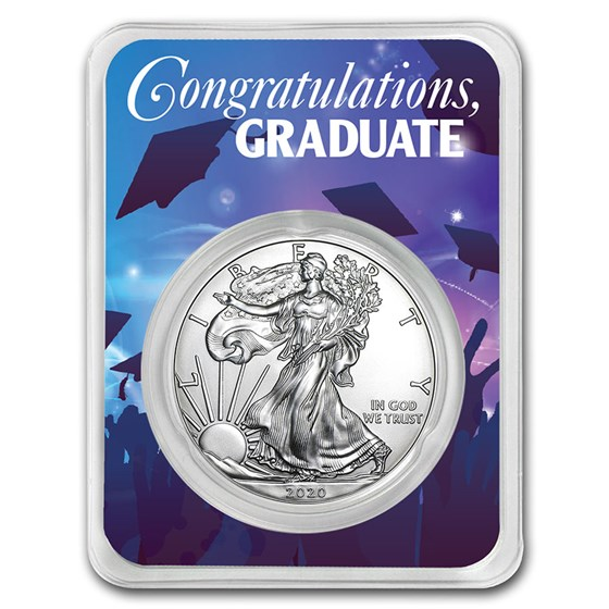 2020 1 oz Silver American Eagle - Graduation Party